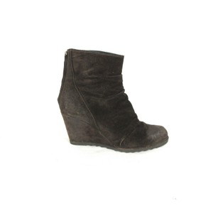 Pons Quintana Suede Ankle brown Wedges