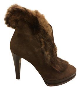 Ralph Lauren Collection Suede Shearling Brown Boots