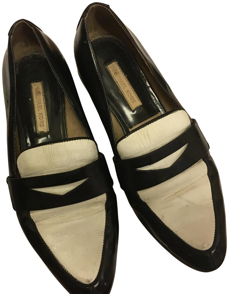 28a8eebab79 Michael Kors Black Patent Leather and White Collection Spectator Loafers  Flats. Size  US 7.5 Regular ...