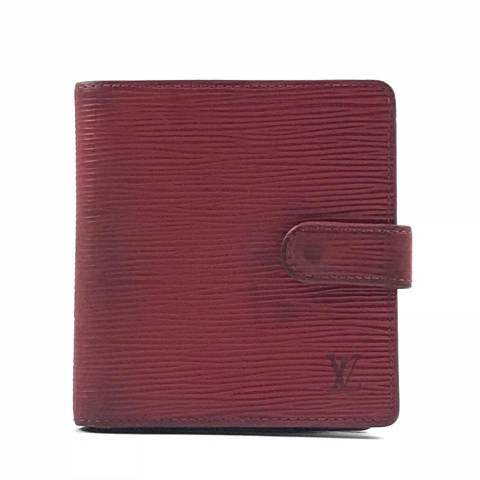 77e0c2582a01 Louis Vuitton Red Bifold Epi Leather Wallet - Tradesy