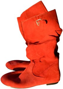 Gianni Bini Suede Casual Comfortable Holiday red Boots