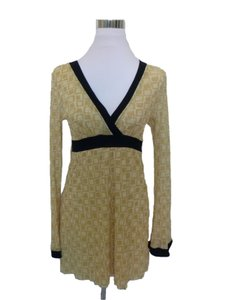 Sweet Pea by Stacy Frati Mod Squre Print Bell Sleeve Top Yellow