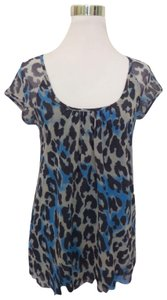 Sweet Pea by Stacy Frati Animal Print Top Blue
