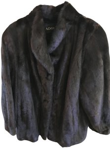 Adolfo style down jacket hip excellent soft and shiny mink skin