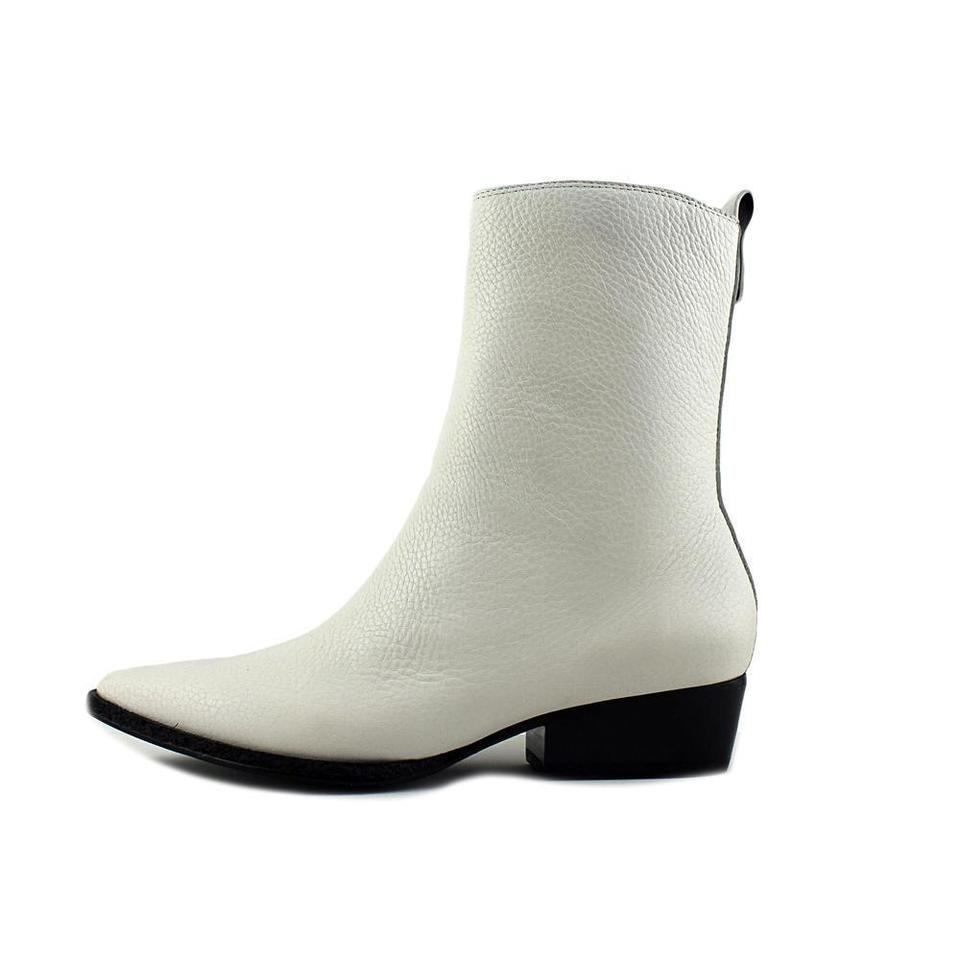8a36366d Calvin Klein White Jeans Kiki Women Pointed Toe Leather Mid Calf  Boots/Booties Size US 8 Regular (M, B) 69% off retail
