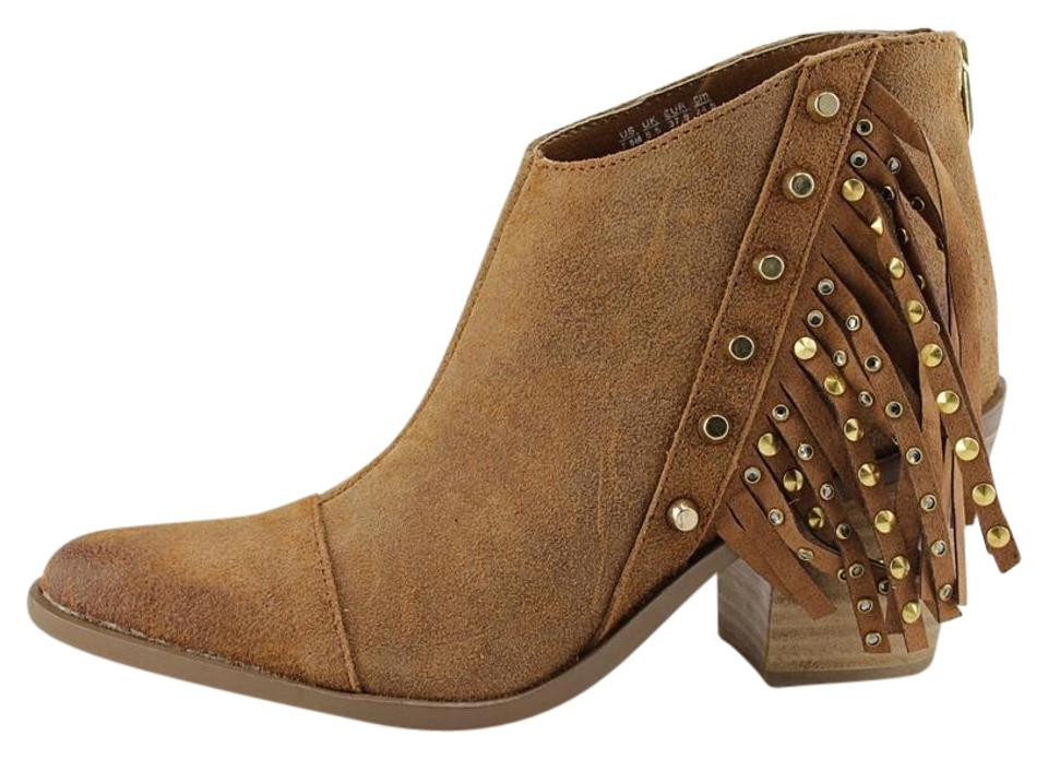 Fergie Brown Bennie Women Ankle Boots/Booties Pre Owned Boots/Booties Ankle bb23ba