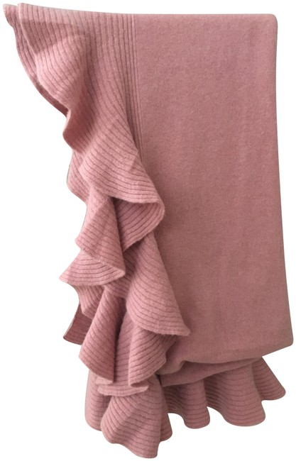 Item - Rose Pink Woman's Ruffled Cashmere Shawl Scarf/Wrap
