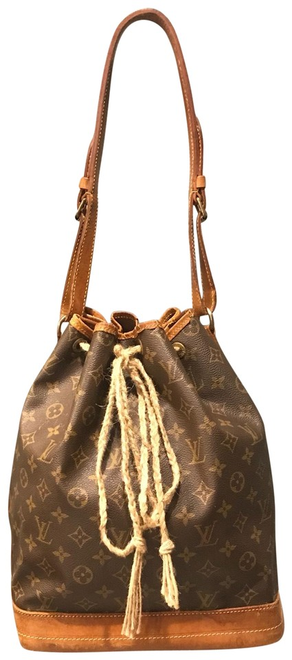 57cf450c4c0e Louis Vuitton Noé Monogram Gm Hobo Shoulder Brown Leather Tote - Tradesy