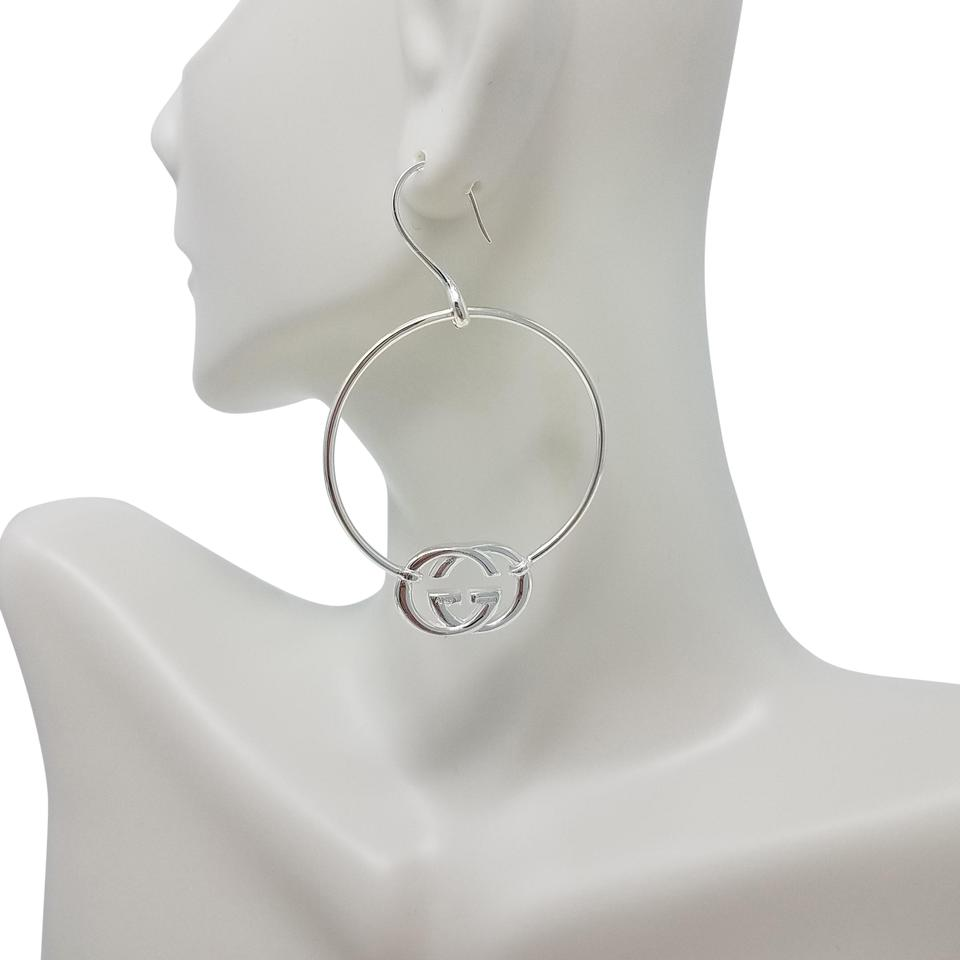 d371bf710c2 Gucci Sterling silver Gucci Britt hoop earrings Image 0 ...