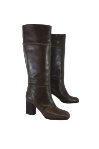 Marni Leather Olive Brown Boots