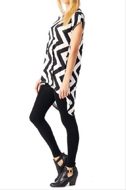 82 days Chevron Going Out Lose Fit Comfortable Tunic