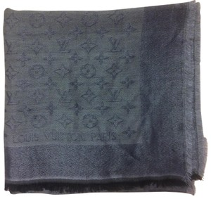 d7b25eb86 Louis Vuitton Gray/Silver Monogram Shawl Scarf/Wrap - Tradesy