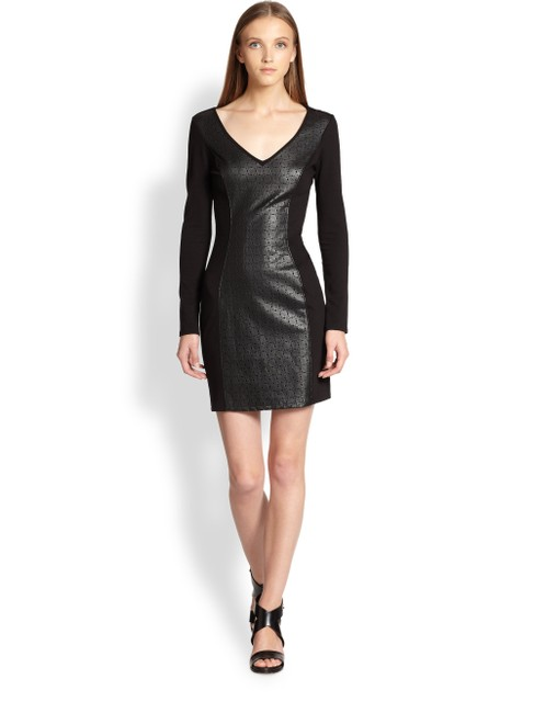 Ella Moss Faux Leather Bodycon Panel Dress Image 1
