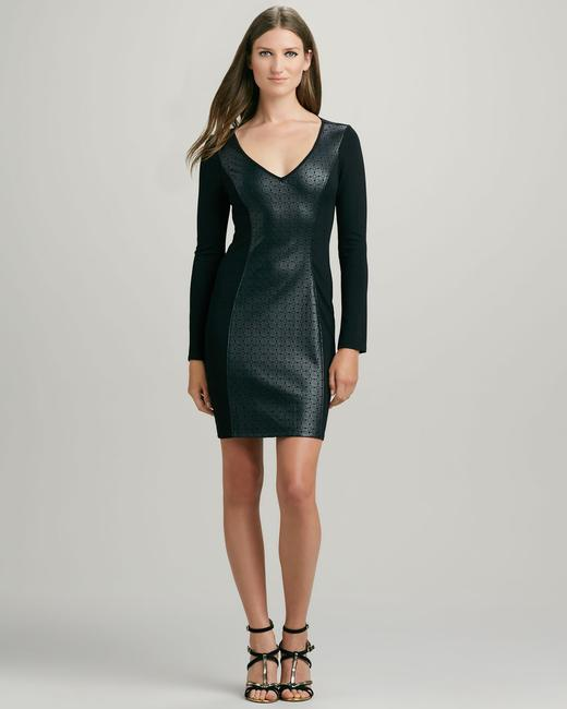 Ella Moss Faux Leather Bodycon Panel Dress Image 2