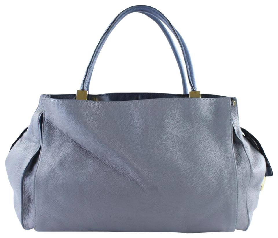 187443c1854 Chloé Dree East West Tote 2mr1128 Grey Leather Shoulder Bag - Tradesy