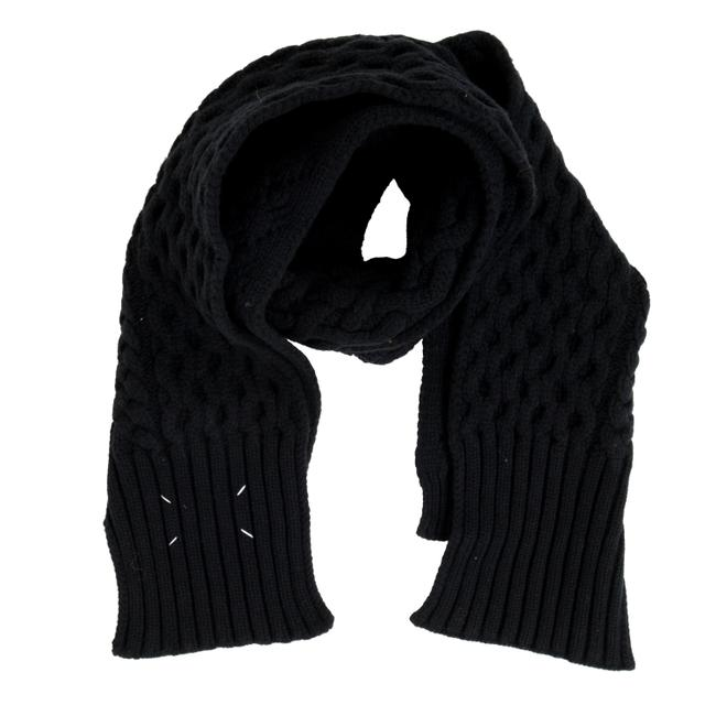 Item - Black 1 Wool Heavy Knitted Unisex Scarf/Wrap