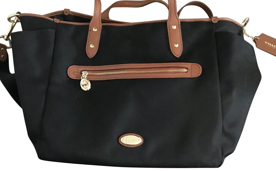 Coach Black With Brown Accents Diaper Bag