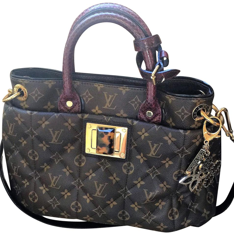 1658d78fbdd1 Louis Vuitton Monogram Limited Edition Python Ostrich Tote in Brown Image 0  ...