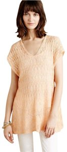 Anthropologie Moth Lacey Knit Linen Blend Sweater
