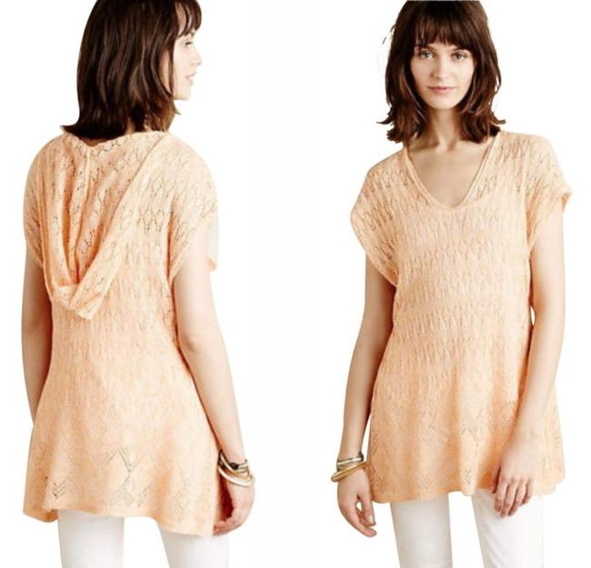 Anthropologie Moth Lacey Knit Linen Blend Sweater Image 1