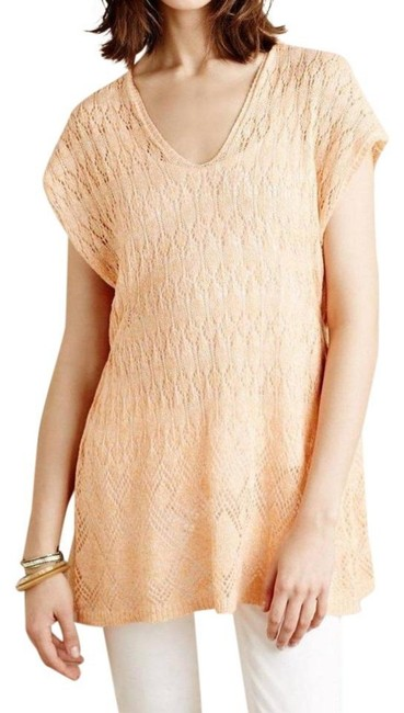 Anthropologie Moth Lacey Knit Linen Blend Sweater Image 2