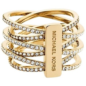 Michael Kors MKJ4422 Michael Kors Intertwined Ring Gold Tone Crystal Pave WOT