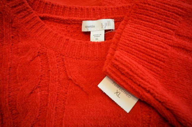 J. Jill Generous Fit Relaxed Fit Cable Knit Soft Chenille Sweater Image 1