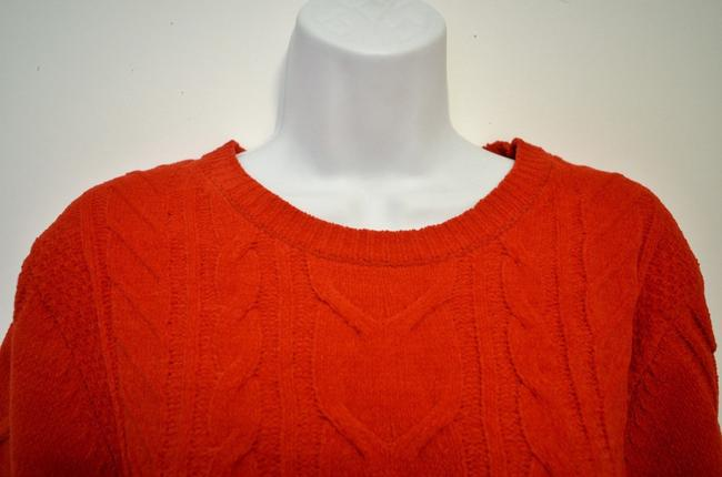 J. Jill Generous Fit Relaxed Fit Cable Knit Soft Chenille Sweater Image 3