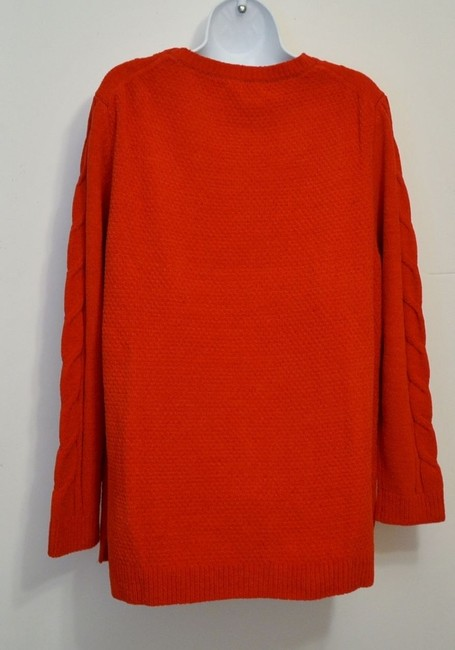 J. Jill Generous Fit Relaxed Fit Cable Knit Soft Chenille Sweater Image 4