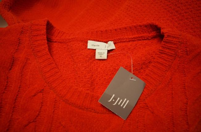 J. Jill Generous Fit Relaxed Fit Cable Knit Soft Chenille Sweater Image 6