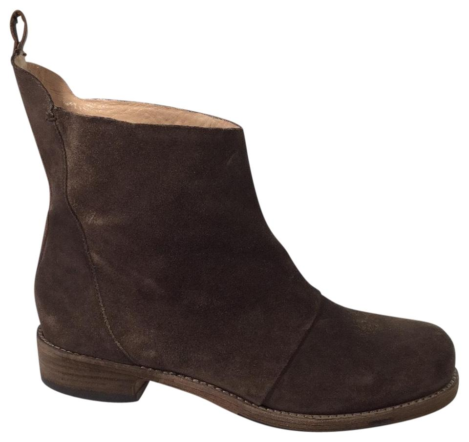Belle Suede by Sigerson Morrison Brown Suede Belle Ankle Boots/Booties 32371b