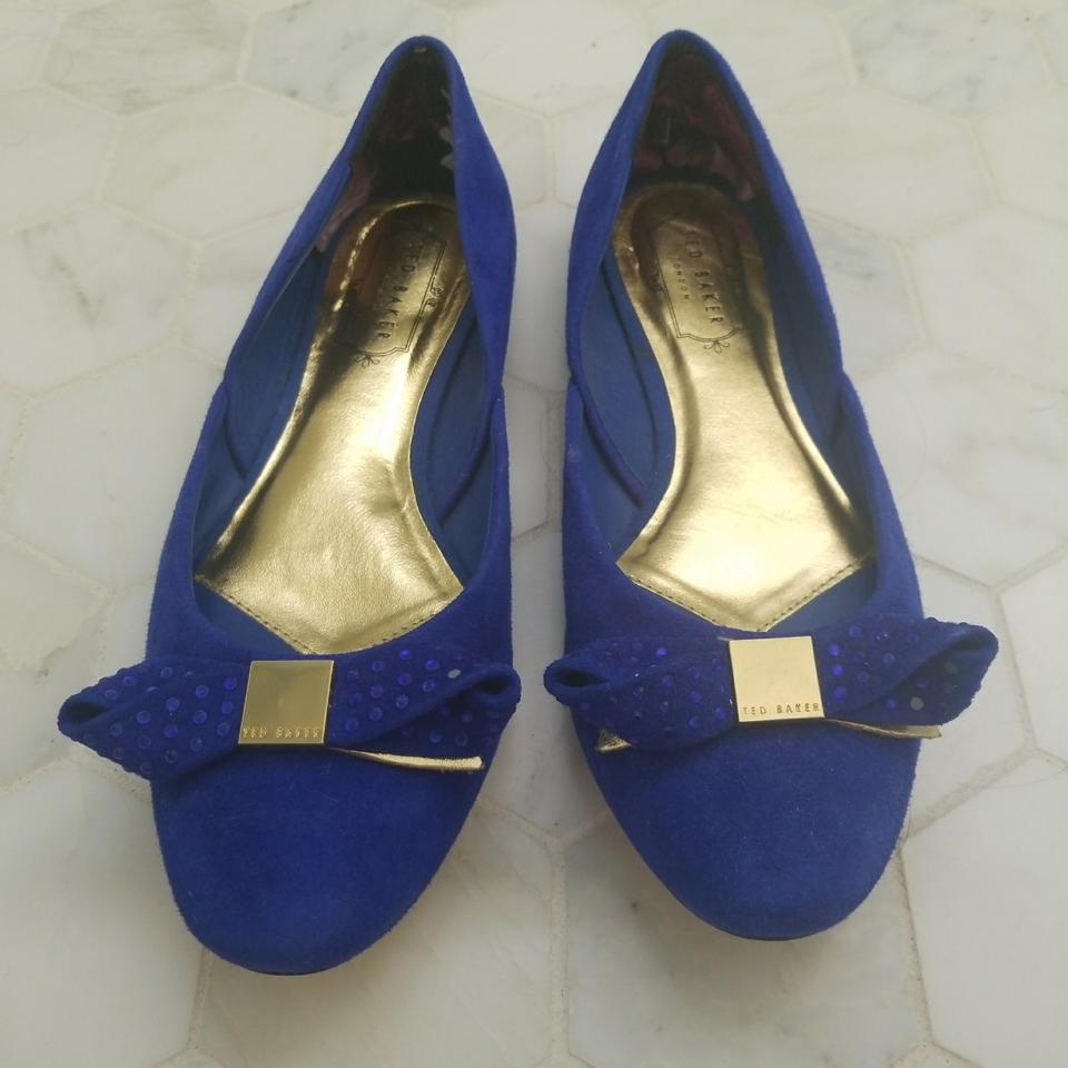 44c3ae267ead Ted Baker Blue Round Toe Bow Ballet Flats Size EU 38 (Approx. US 8) Regular  (M