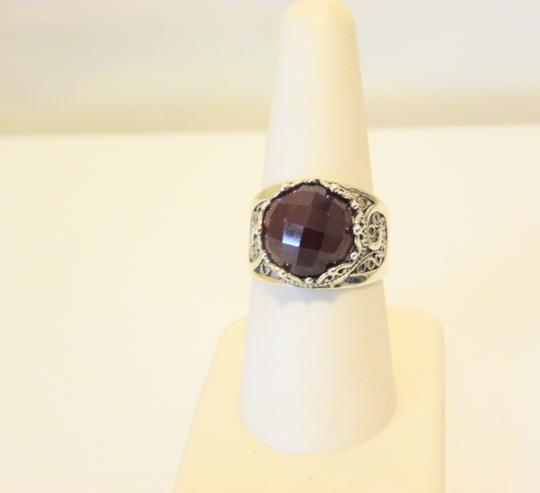 Other Ottoman Silver Jewelry Round Red Corundum Ring Size 8 Image 10