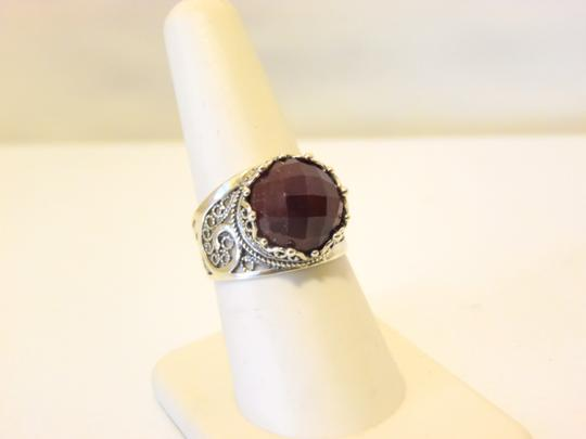 Other Ottoman Silver Jewelry Round Red Corundum Ring Size 8 Image 11