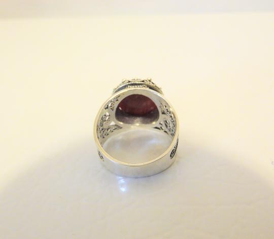 Other Ottoman Silver Jewelry Round Red Corundum Ring Size 8 Image 6