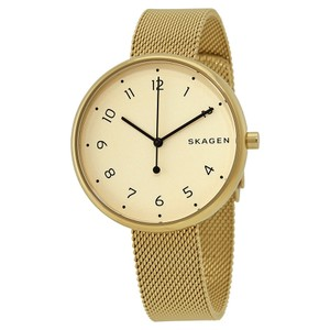 Skagen Denmark Brand New Signature Gold-Tone Steel-Mesh Watch SKW2625