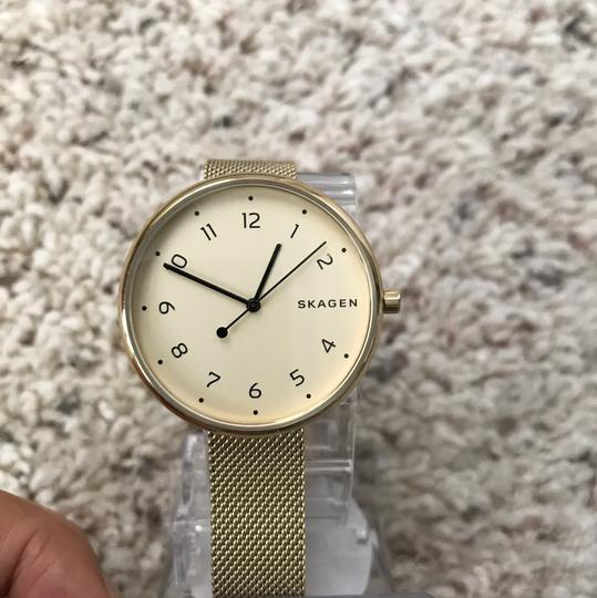 Skagen Denmark Brand New Signature Gold-Tone Steel-Mesh Watch SKW2625 Image 2