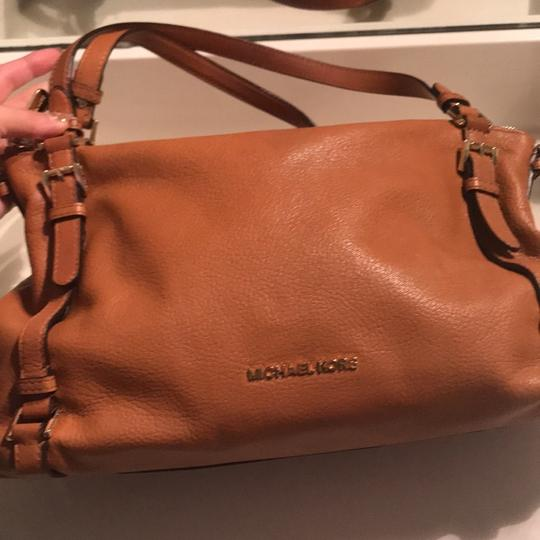 MICHAEL Michael Kors Satchel in Luggage with Gold Hardware Image 1