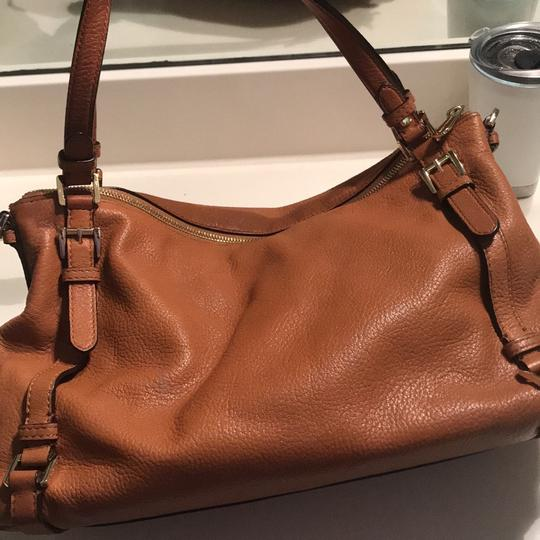 MICHAEL Michael Kors Satchel in Luggage with Gold Hardware Image 3