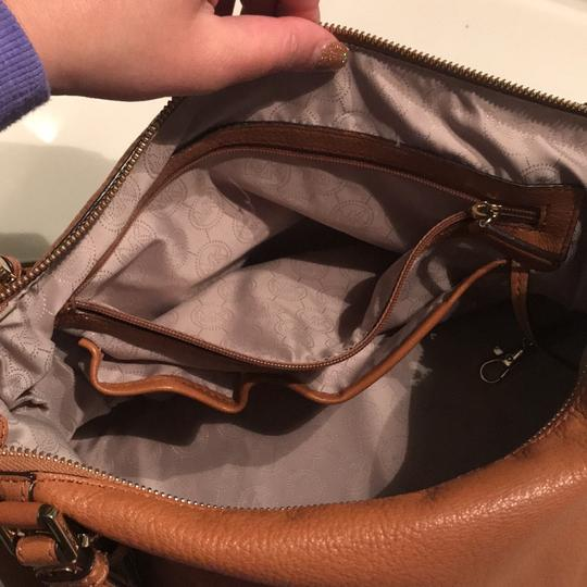 MICHAEL Michael Kors Satchel in Luggage with Gold Hardware Image 5