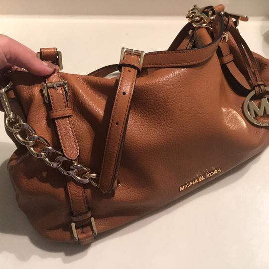 MICHAEL Michael Kors Satchel in Luggage with Gold Hardware Image 7