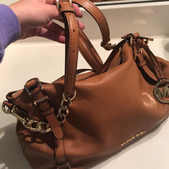 MICHAEL Michael Kors Satchel in Luggage with Gold Hardware Image 8
