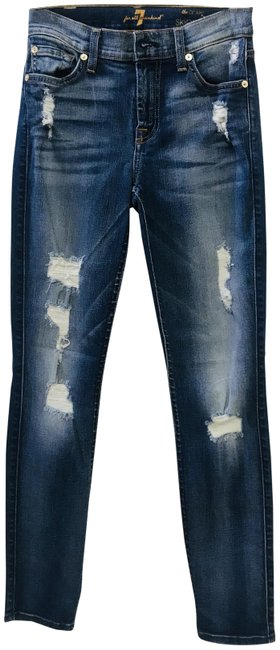 Preload https://img-static.tradesy.com/item/22528166/7-for-all-mankind-blue-medium-wash-the-in-destroyed-denim-skinny-jeans-size-24-0-xs-0-3-650-650.jpg