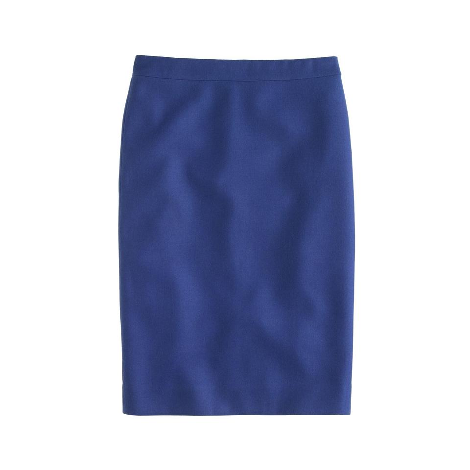bb031ee80f J.Crew Royal Blue Pencil In Double-serge Wool Skirt Size 0 (XS, 25 ...