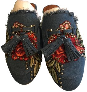 Jeffrey Campbell denim Flats