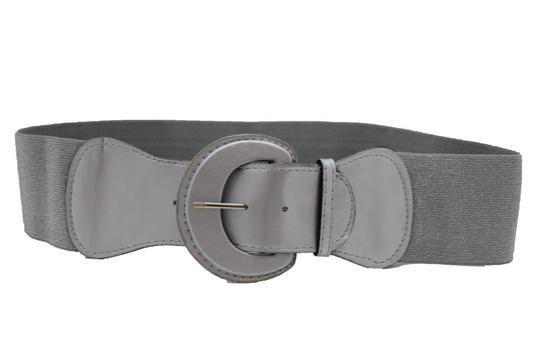Alwaystyle4you Women Silver Faux Leather Stretch Waistband Fashion Belt Hip Waist Image 3