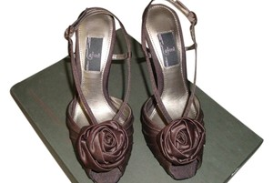 Glint Satin Strappy Dancing Party Brown Sandals