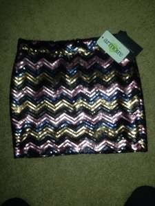 Skirt Pink, Gold And Navy
