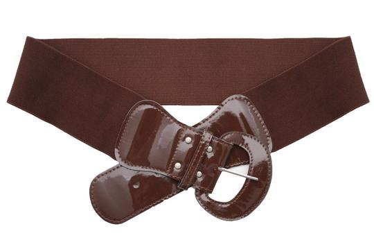 Alwaystyle4you Women Fashion Belt Chocolate Brown Elastic Band Hip Waist Big Buckle Image 1