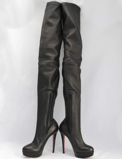 Christian Louboutin Thigh High Over The Knee Black Boots Image 1